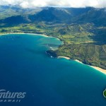 Aerial View of Hanalei and Lumahai