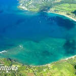 Aerial view of Hanalei